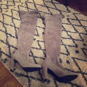 Stuart Weitzman Thigh High Boots Taupe